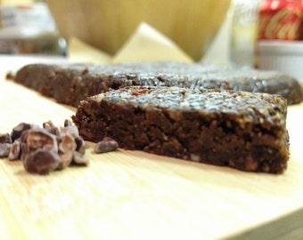 Raw Vegan Nutty Cocoa Nib Brownies