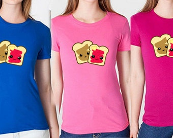 Peanut Butter Jelly Shirt - peanut butter shirt, jam shirt, girly shirt, cute shirt, kawaii shirt, kawaii clothing