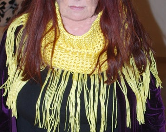 Fringed Cowl Infinity Scarf