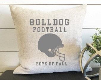 Custom Football Pillow - 18 x 18, home decor, cushion, throw pillow, gift, present, custom home, custom house, home, football, fall, helmet
