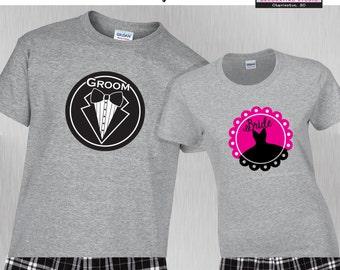 Wedding Pajamas • Wedding Shirts • Wedding Gift • Price is Per Set • Set=1 shirt & 1 pant or boxers