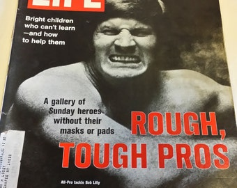 Life Magazine October 6, 1972 Rough, Tough Pros.