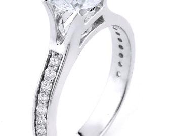 14k gold engagement rings, delicate wedding rings, simple diamond rings, diamond engagement ring, Diamond Band, wedding ring, diamond ring