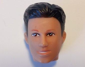 Face head 2D, 3D silicone Mold man Ken doll mould fondant chocolate cake candle fimo