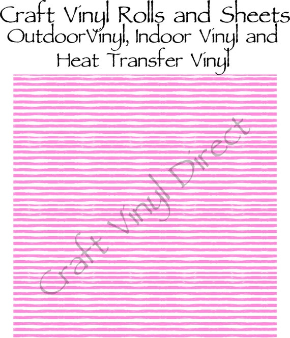 Hot Pink Watercolor Stripe Craft Vinyl and Heat Transfer