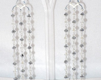 Adalia Chandelier Earrings With Swarovski Crystal