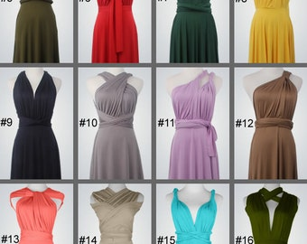Set of 11,12,13..bridesmaid dresses,prom dress, Floor length convertible dress, infinity bridesmaid dress, Wedding Dress