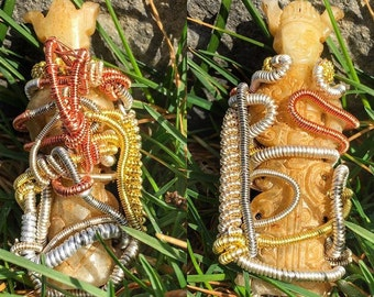 custom wire wrapped pendants