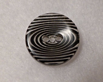 12 buttons - zebra black, clear - 20 mm