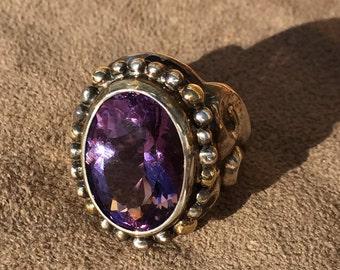 Amethyst Arabesque Ring