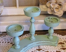 Distressed Wood Candle Holder, Jade Votive Holder, Table Centerpiece Candle Holder, Candle Holder, Candleholder Centerpiece, Wedding Decor