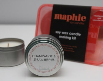 Champagne and Strawberries - Soy Wax DIY Candle Making Kit