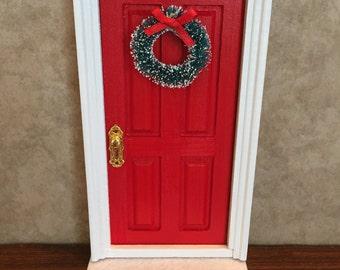 Fairy door etsy for Red elf door