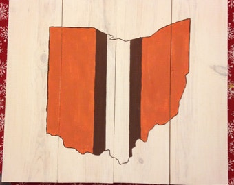 Cleveland Browns Ohio Painting on Wood