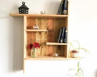 Reclaimed wooden rustic Shelf