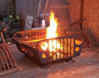 Custom Fire Pit with removable grill 24x24