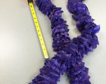 Shades of purple ruffle scarf