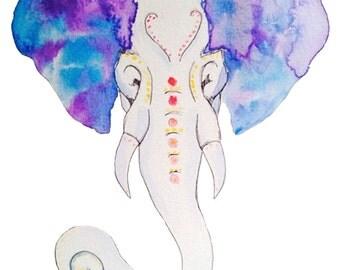 Blue Elephant - Print