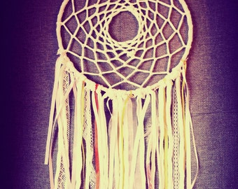 Boho White Dreamcatcher