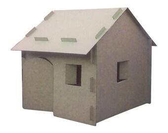 Cardboard building