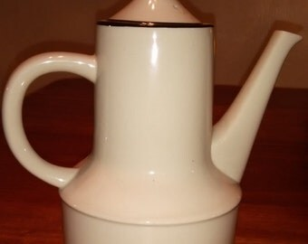 Vintage Mid Century Stoneware Coffee Pot Made in Japan