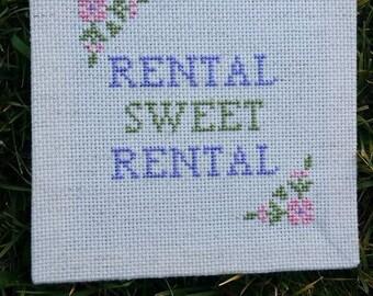 Rental Sweet Rental Subversive Cross Stitch