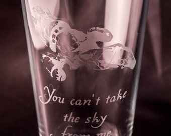 Firefly Glass Etched Drinking Glass Serenity Etched Pint Glass