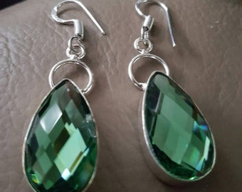 Green Mystic Topaz  Earrings !