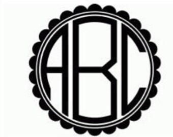 "LARGE (4"") Block Letter Monogram Vinyl Stickers"