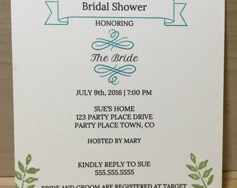 Handmade Invitation for any occasion