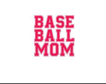 baseball mom svg dxf file instant download silhouette cameo cricut clip art
