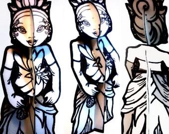 Color and Make Paper Doll Cajun Princess - Printable  Toy