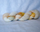 White Foxes, Hand Dyed Fingering Weight Yarn in 100% Super Wash Merino, SW, 4ply