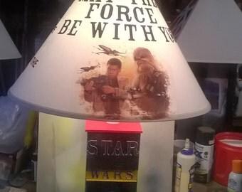 wooden star wars lamp