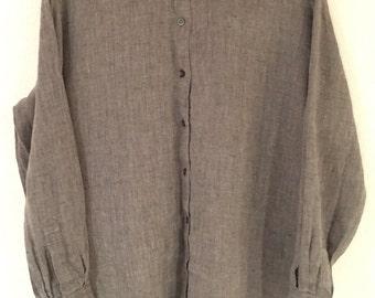 90s Liz Claiborne Linen Button Down