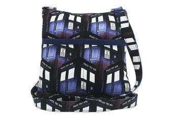 Doctor Who XL Crossbody Bag // Sling Bag // Crossbody Purse // Shoulder Bag // Hipster // Tardis