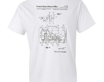 Integrated Circuit Patent T-Shirt - Patent t-shirt, Old Patent t-shirt, Integrated Circuit t-shirt, Vintage Computer, Geek Gift