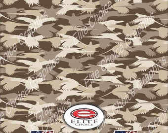 "Pheasant Hunting Silhouette 15""x52"" or 24""x52"" Truck/Pattern Print Tree Real Camouflage Sticker Roll or Sheet"
