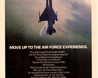 1970s US Air Force vintage magazine ad  wall decor art print ad 1708