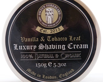 Shaving Cream Vanilla & Tobacco Leaf 150g / 5.3oz by Sweyn Forkbeard