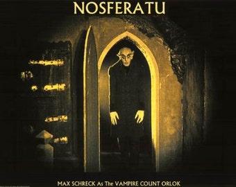 Nosferatu - Vintage Dracula Horror Poster