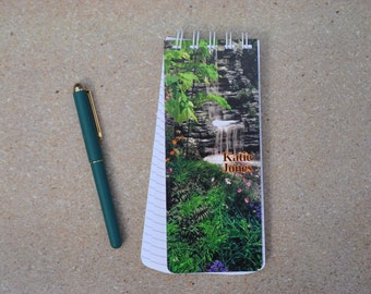 Set of 3 Spiral Bound, To-Do List Note Pad Personalized Waterfall Original Photo Lined Paper Grocery List