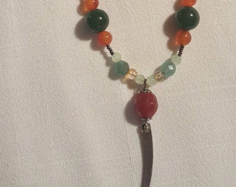 Carnelian and Jade necklace