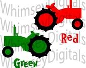 Tractor, SVG Cut File, Vinyl Cutting Design, Little Farmer, Baby Bib or Farm TShirt Design for digital cutting machines