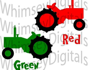 Tractor, SVG Cut File, Vinyl Cutting Design, Little Farmer, Baby Bib or Farm TShirt Design for digital cutting machines