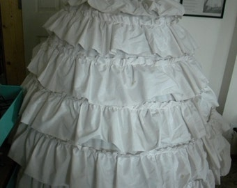 1860s Civil War Flounced Hoop Skirt