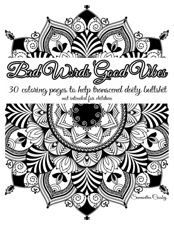 Adult Coloring Book, Coloring Book, Swear Word Coloring Book, Adult Coloring Books, Curse Word Coloring Coloring Book, Coloring Pages,