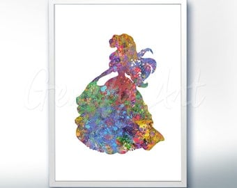 Disney Ariel Little Mermaid Watercolor Poster Print - Wall Decor - Artwork- Watercolor Painting - Watercolor Art - Kids Decor- Nursery Decor