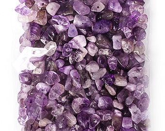 100g Semi-Precious Loose Chips in Amethyst Mix (SP054)