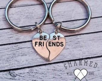 SALE Best Friends Keychain/BFF/Keychain For Best Friend/Gifts For BF/Best Friend Keyring